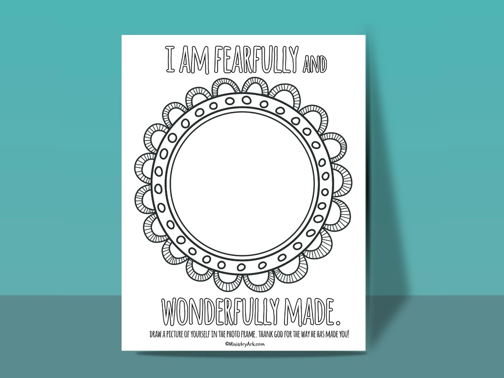 Craft For I Am Wonderfully Made