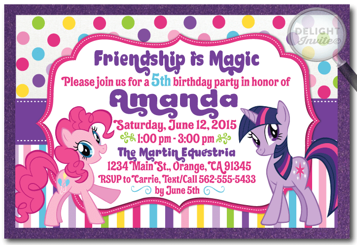 My Little Pony Birthday Favor Tag Di 650ft Ministry