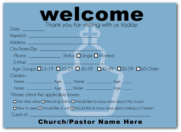 church welcome card template - 28 images - 35 awesome visitor card - guest card template