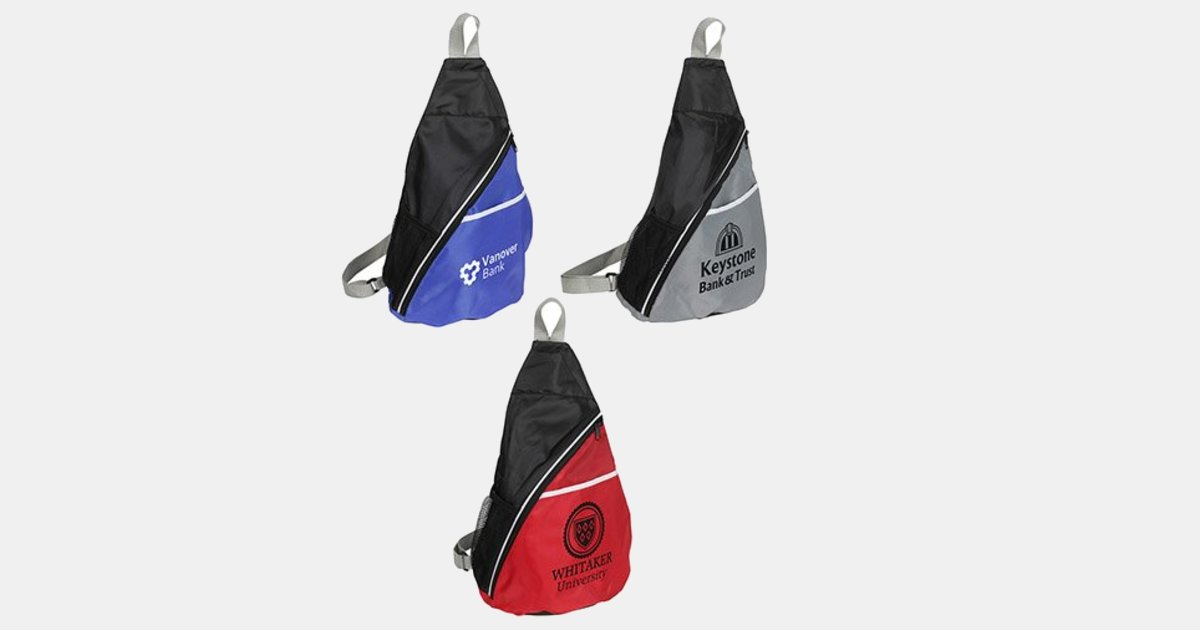 Personalized Sling Backpack Busy Day Bag Minithrowballscom