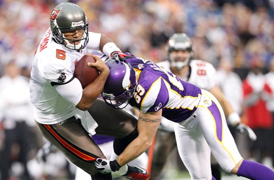 Photo of Jared Allen sacking Josh Freeman