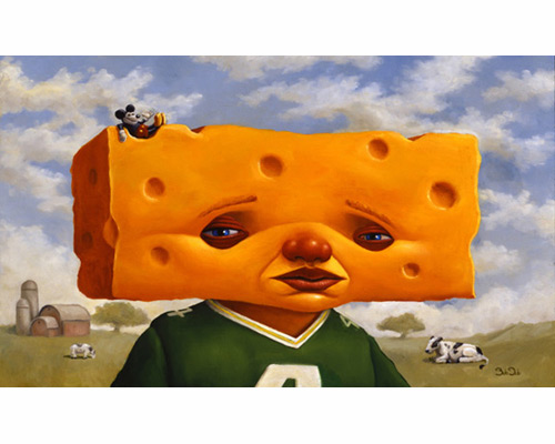 Painting of a Cheesehead