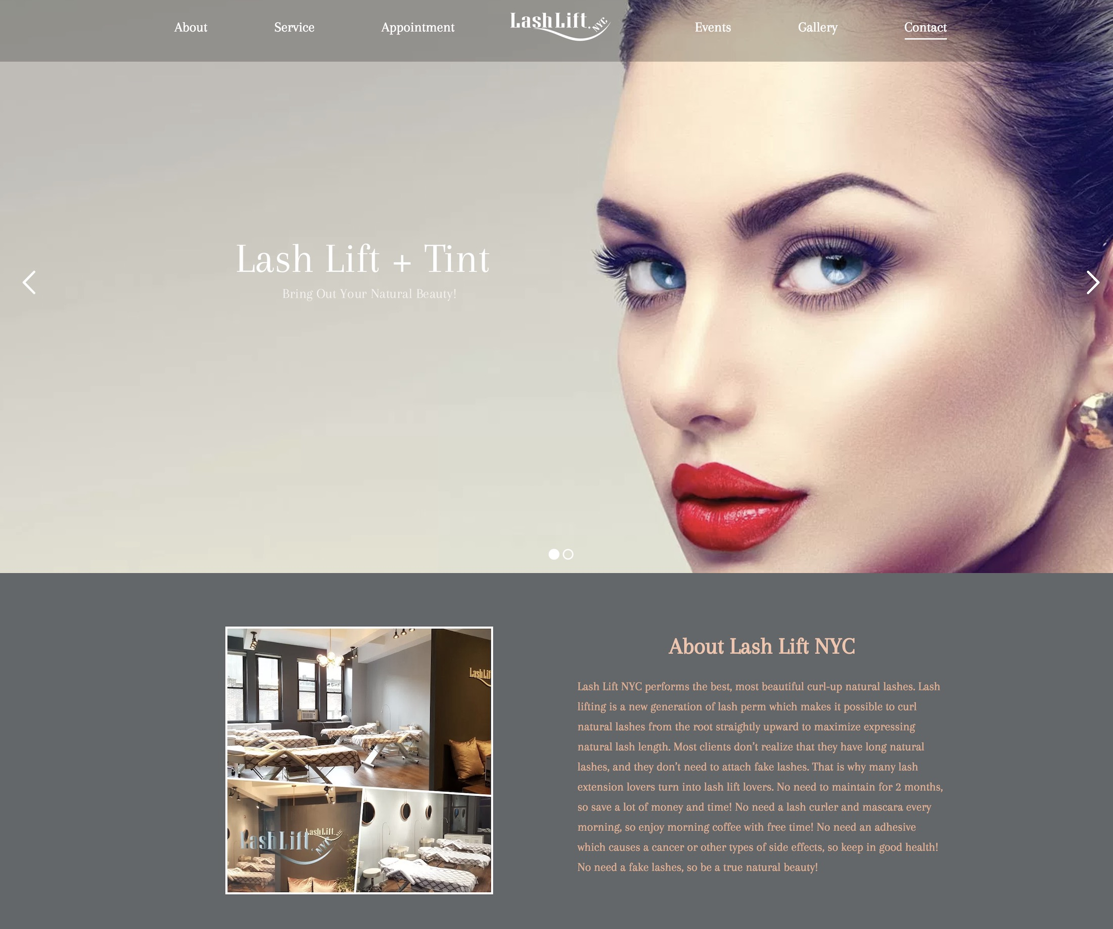 Ive Created A Website For Lash Lift Nyc Minoworks
