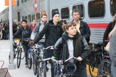 Passatgers al Caltrain