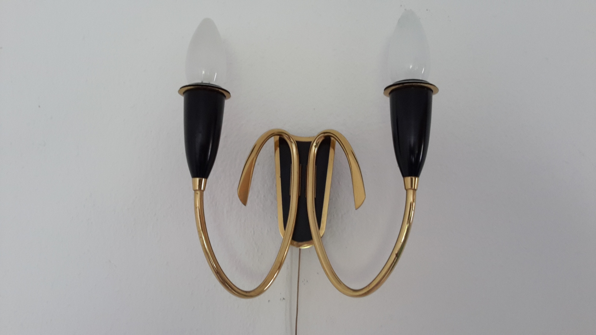 Sideboard Metall Mio Brass Wall Light Austria 1950s