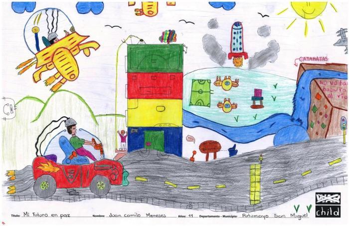 Los niños, niñas y jóvenes en zonas de conflicto pintan su futuro con color