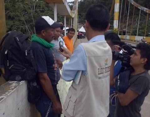Se levantó huelga de hambre en el Puente Internacional San Miguel