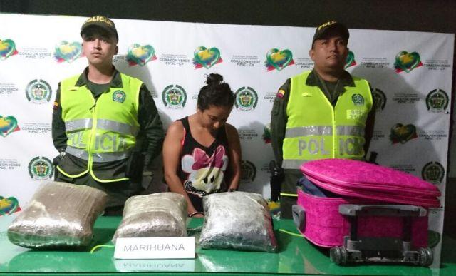 En Villagarzón, capturada una mujer con 6420 dosis de Marihuana