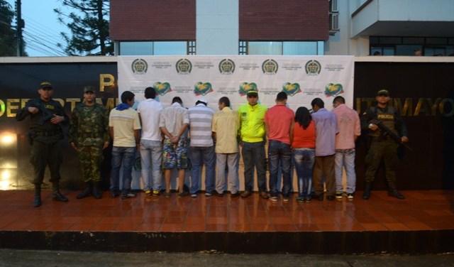 Capturadas 9 personas por contaminación de fuente hídrica en Puerto Umbría