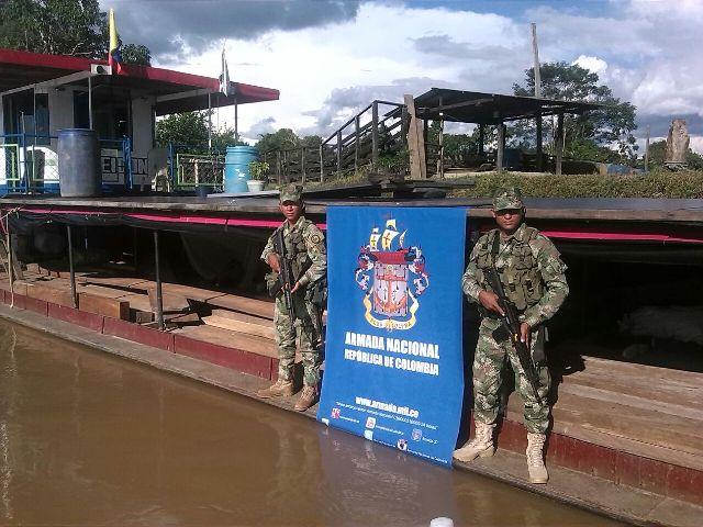 Recuperada una especie viva e incautado cargamento de madera por parte de la Armada Nacional