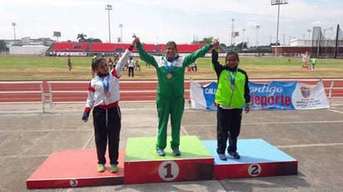 La Atleta Putumayense Leydi Lorena Ortiz, Conquisto 3 Medallas En El Abierto De Para Atletismo Cali 2016