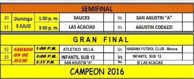 Final del campeonato de futbol Interbarrios – 2016