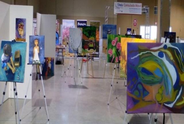 Putumayense expone sus obras en Consulado Colombiano en Miami