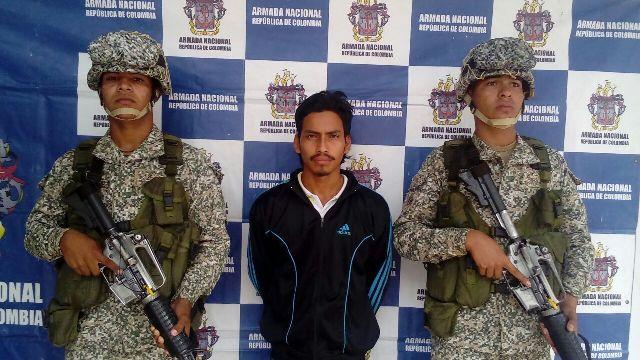 Armada Nacional captura a dos personas por tráfico de estupefacientes