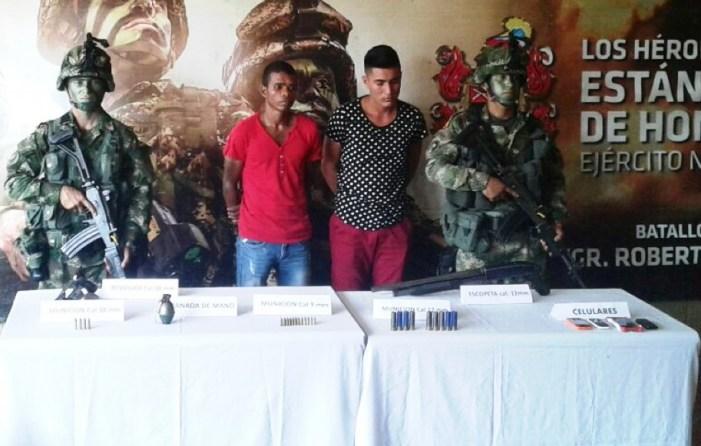 """Ejército capturó a dos integrantes de """"la costru"""" en el Putumayo"""