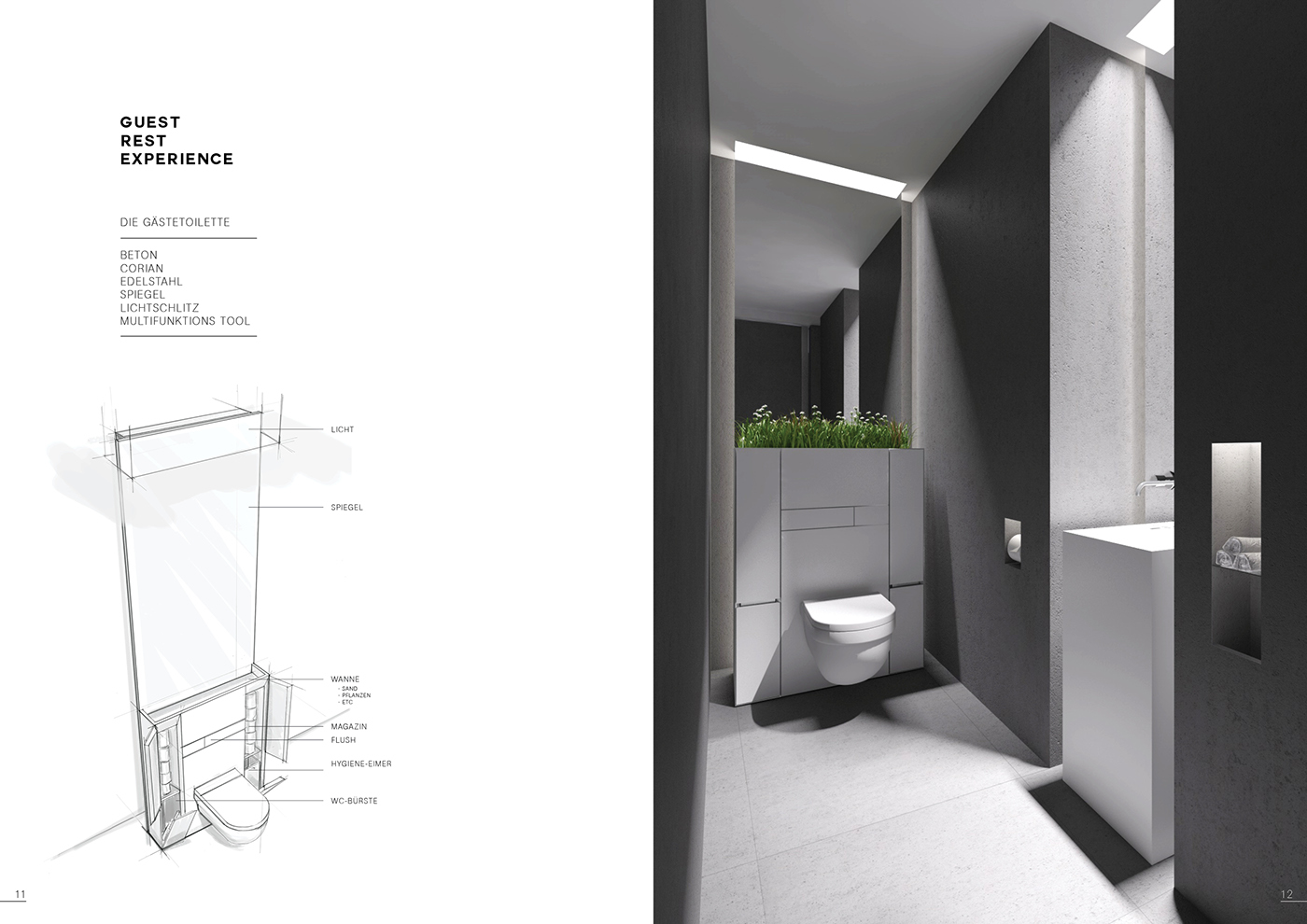Gäste Wc Corian Penthouse 23 On Behance