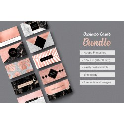 Exquisite Extended License Rose G Marble Foil Glitter Business Card Templates On Behance Photo Business Cards Template Photo Business Cards Free Template Rose G Business Cards Bundle Only