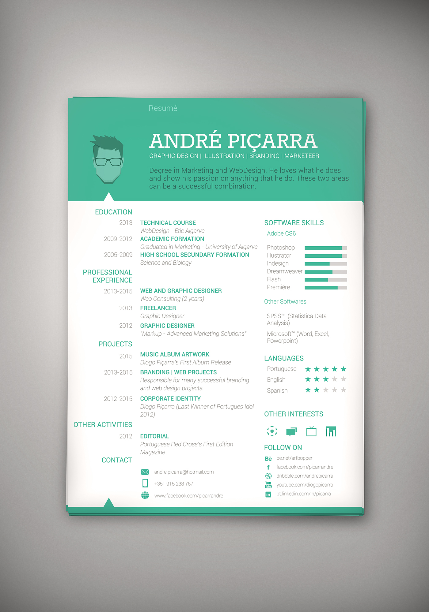 profile cv english