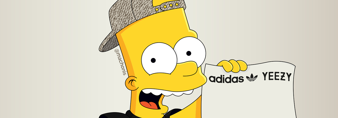 Glo Gang Iphone Wallpaper Bart Simpson Yeezys In Black Pictures To Pin On Pinterest