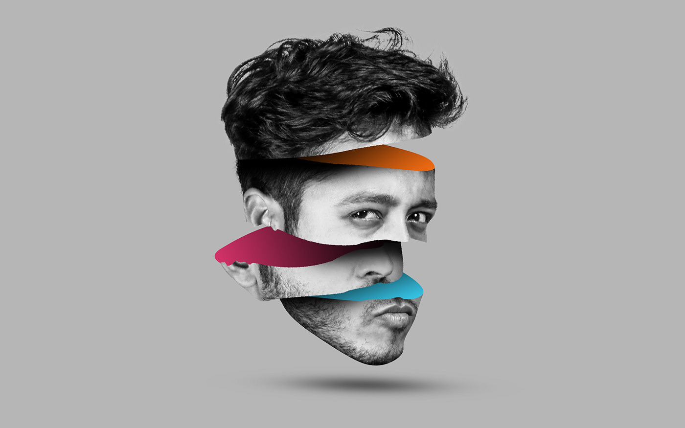 Cc Tutorial Sliced Head Manipulation Photoshop Cc Tutorial On Behance