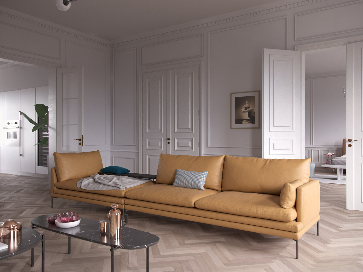 Servomuto Zanotta French Apartment With Italian Interior On Behance