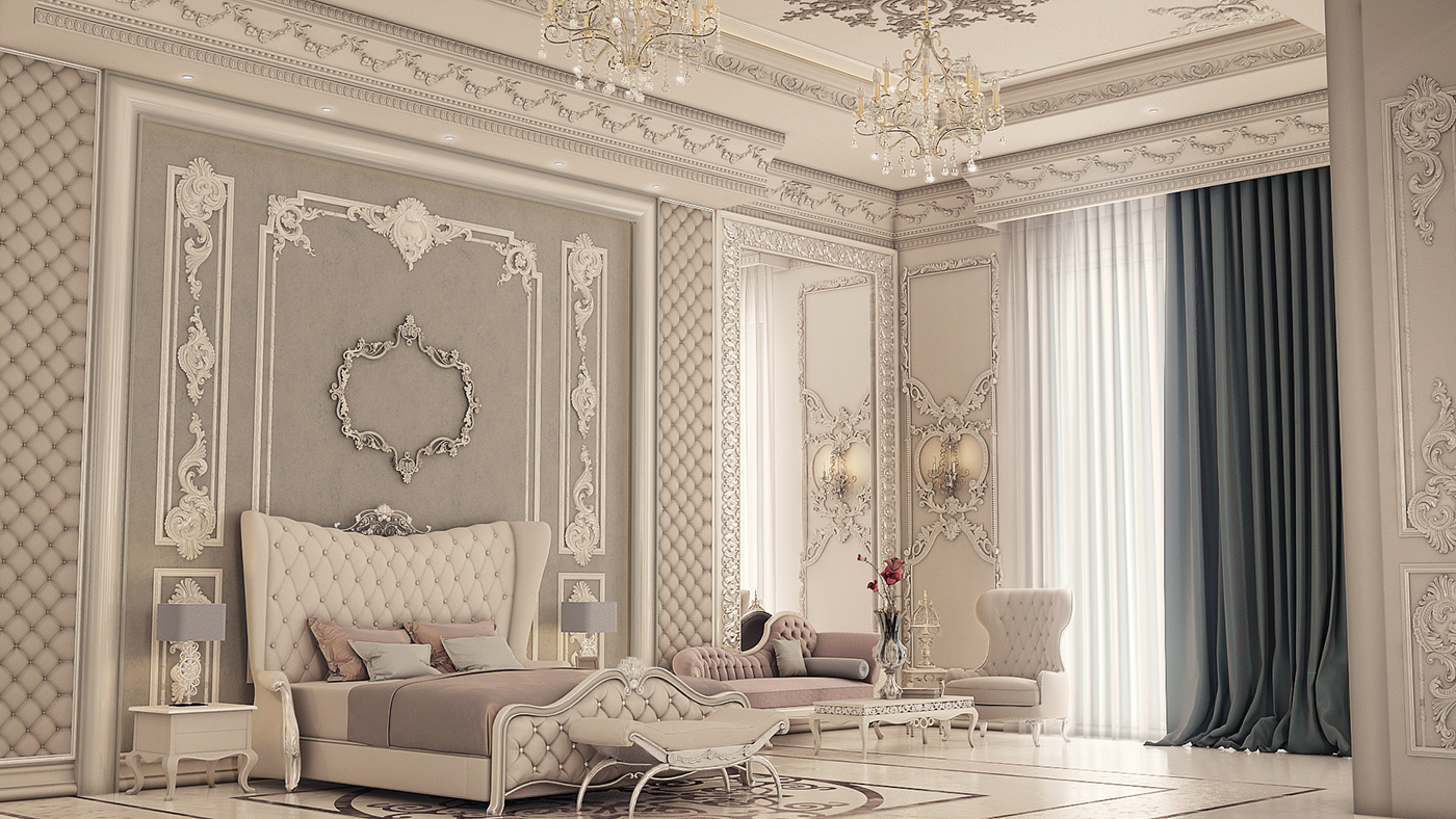 3d Wallpaper For Master Bedroom Classic Palace On Behance