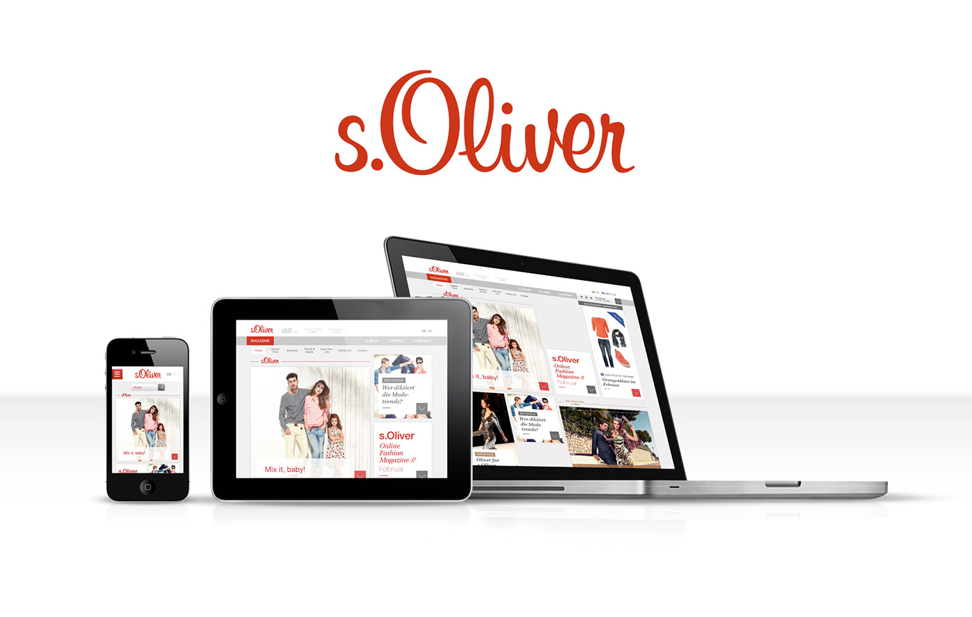 Www.s.oliver.de Mode S Oliver Brand Site Relaunch On Behance