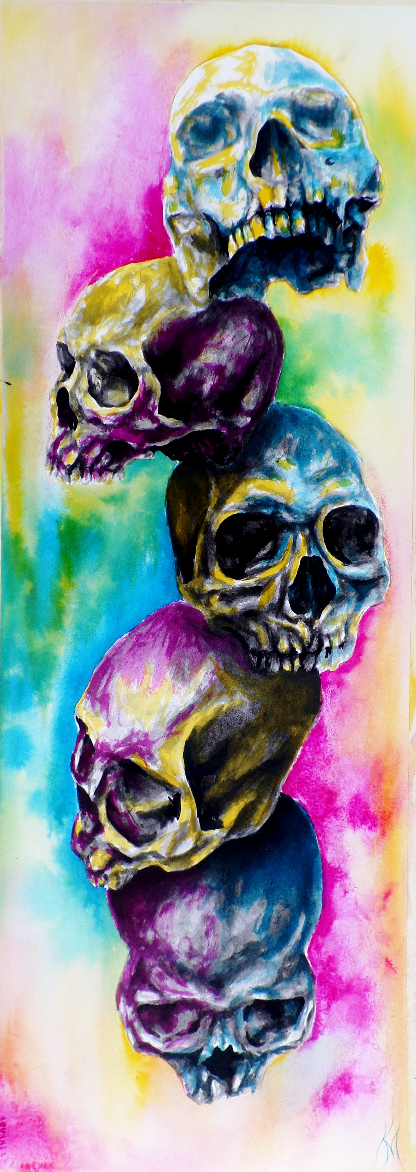 Lion Live Wallpaper Iphone Colorful Skulls On Behance