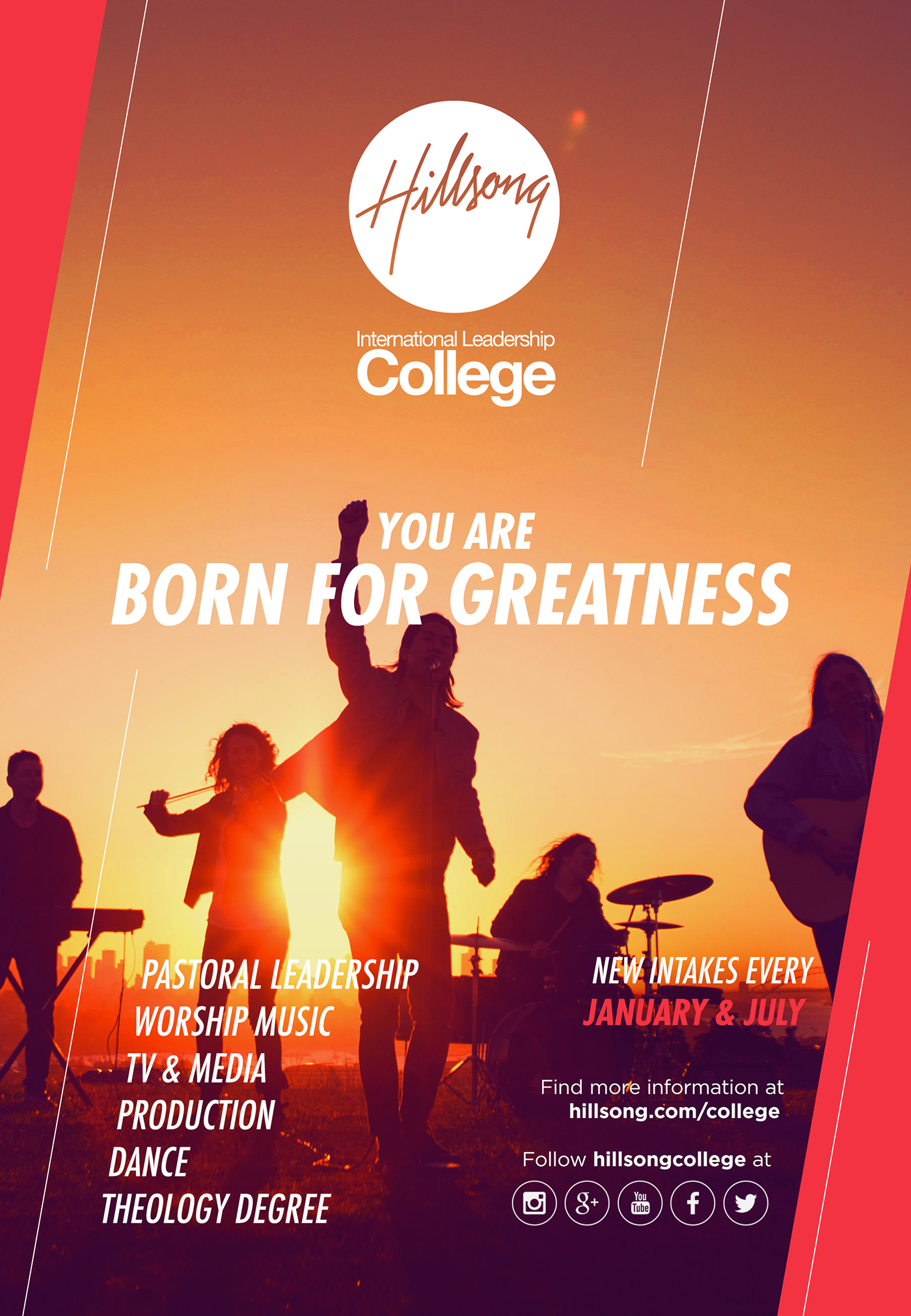 Filter Photoshop Campaign 'born For Greatness' - Hillsong College On Behance