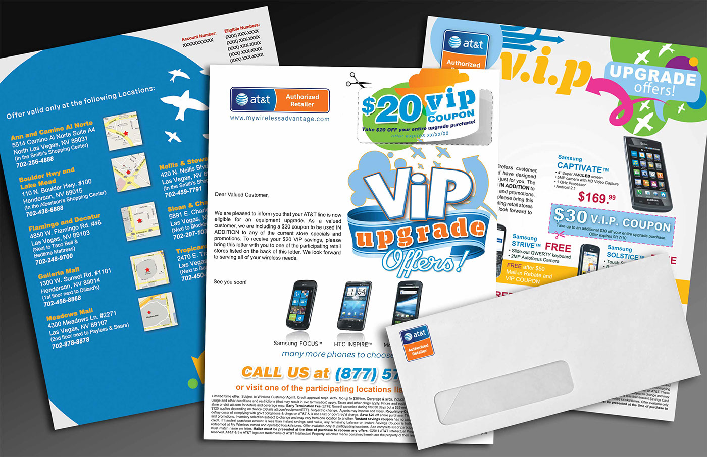 Camino Al Norte Las Vegas At T Direct Mail Mywireless Lv On Behance