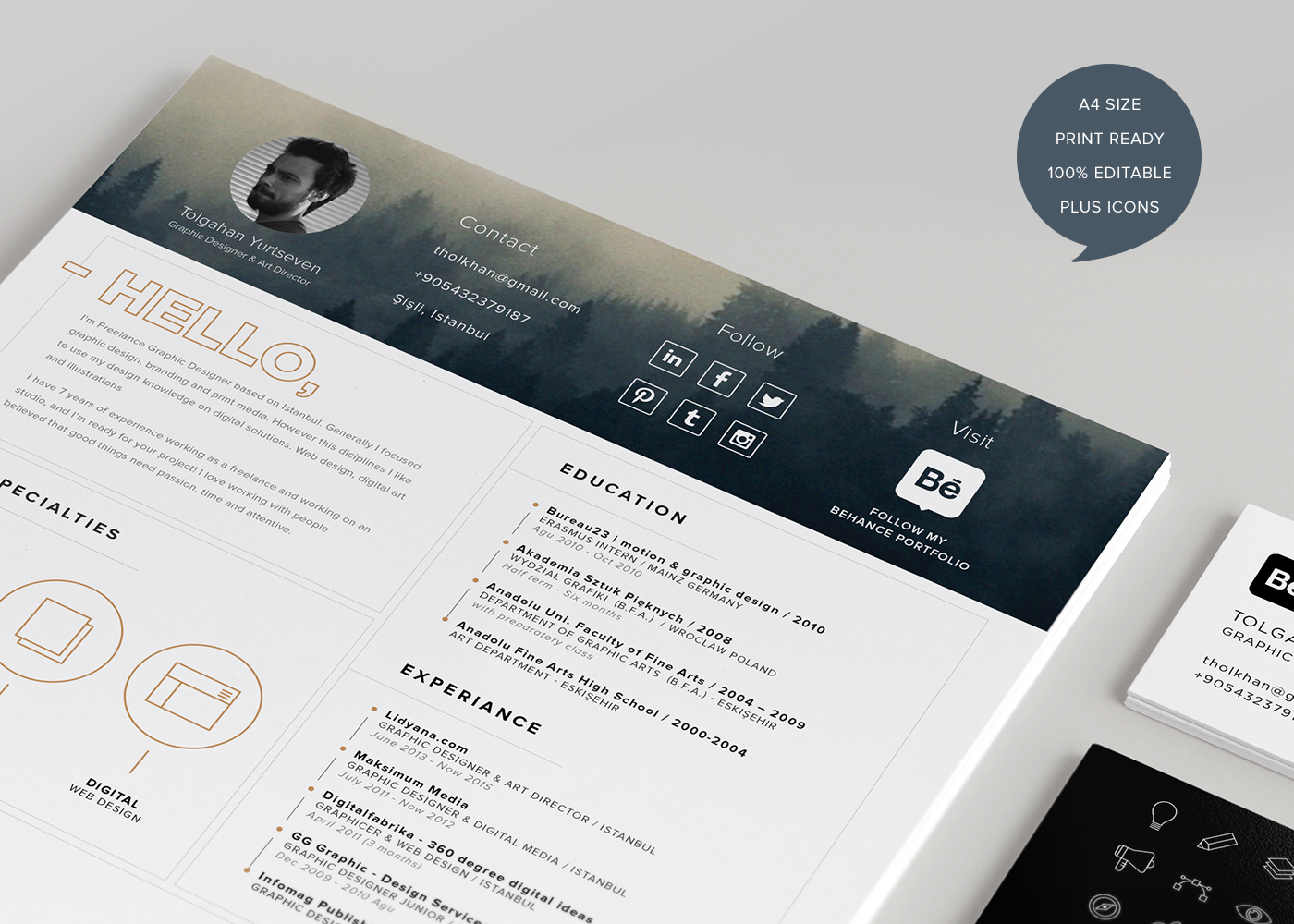 free creative cv template download