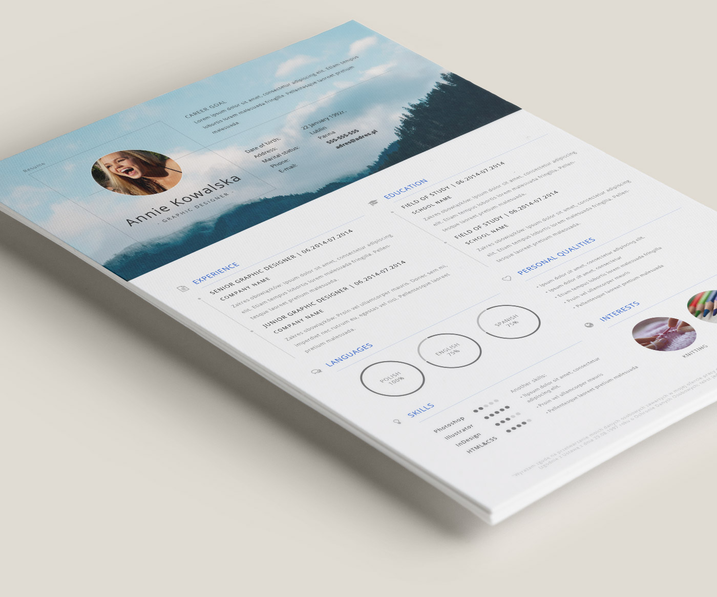 best cv template site