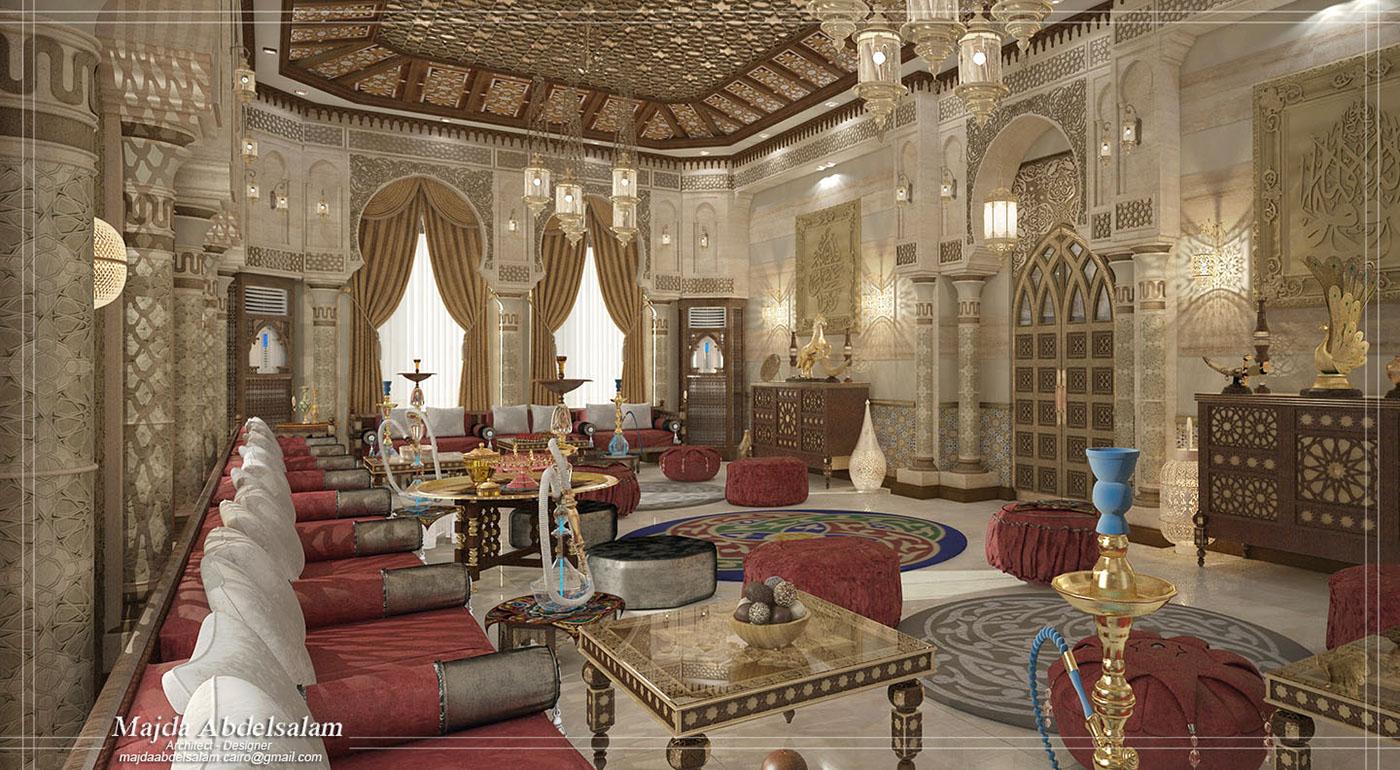 3d Wallpaper In Qatar Islamic Majlis On Behance