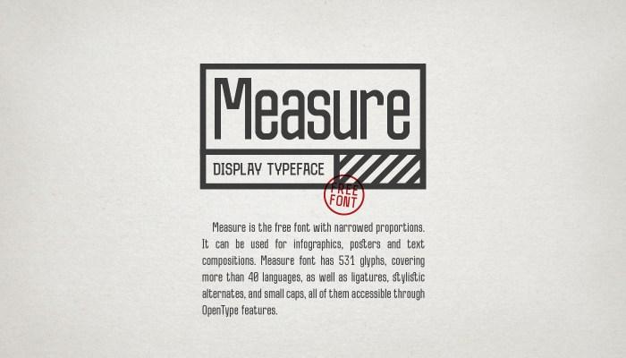 Measure Font Download