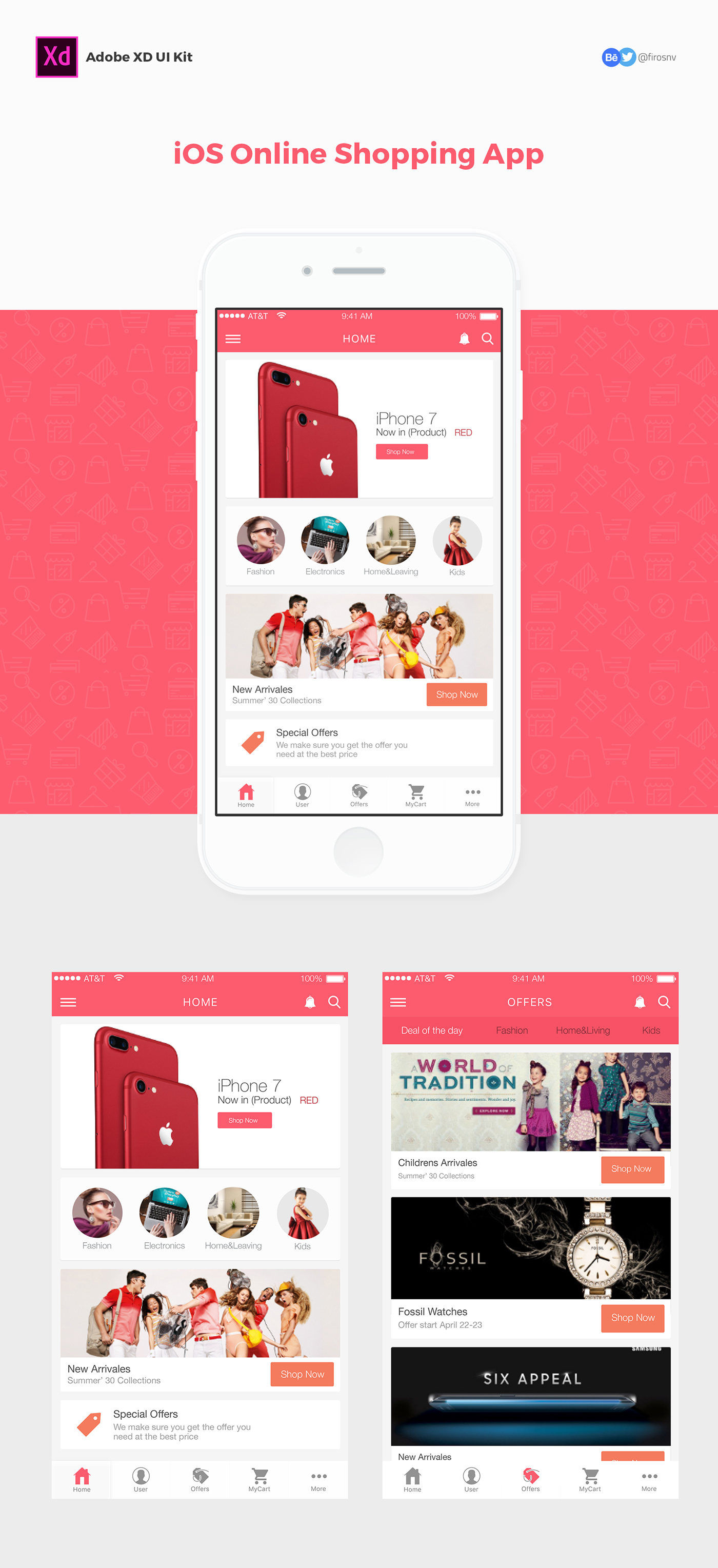 Design Online Shop Online Shopping Free Ui Kit Adobe Xd Template On Behance