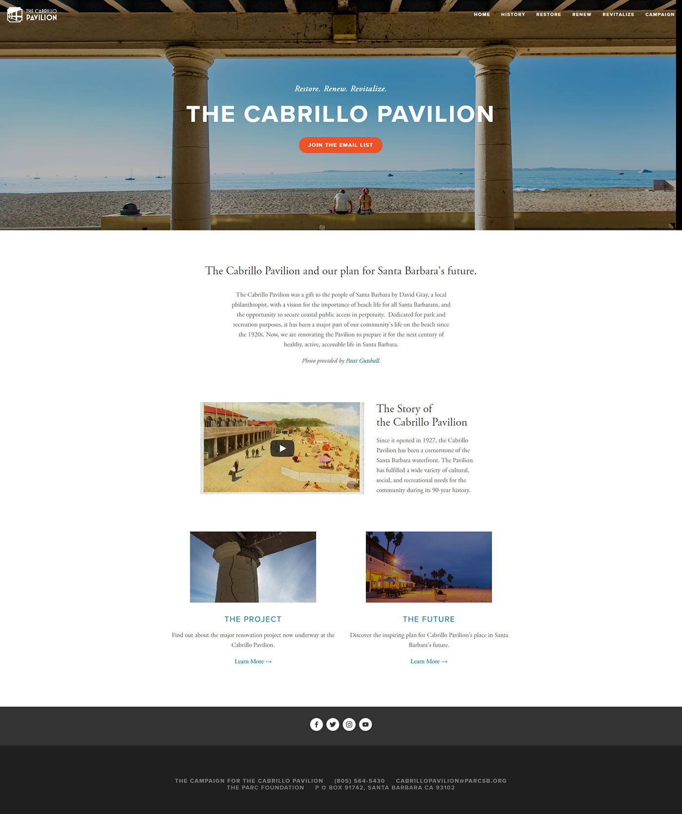 Cabrio Pavillon Capital Campaign Branding On Behance