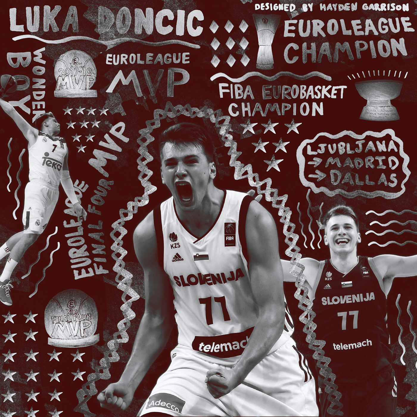 Nba Wallpaper Iphone 5 Luka Doncic Silver Sharpie Design On Behance