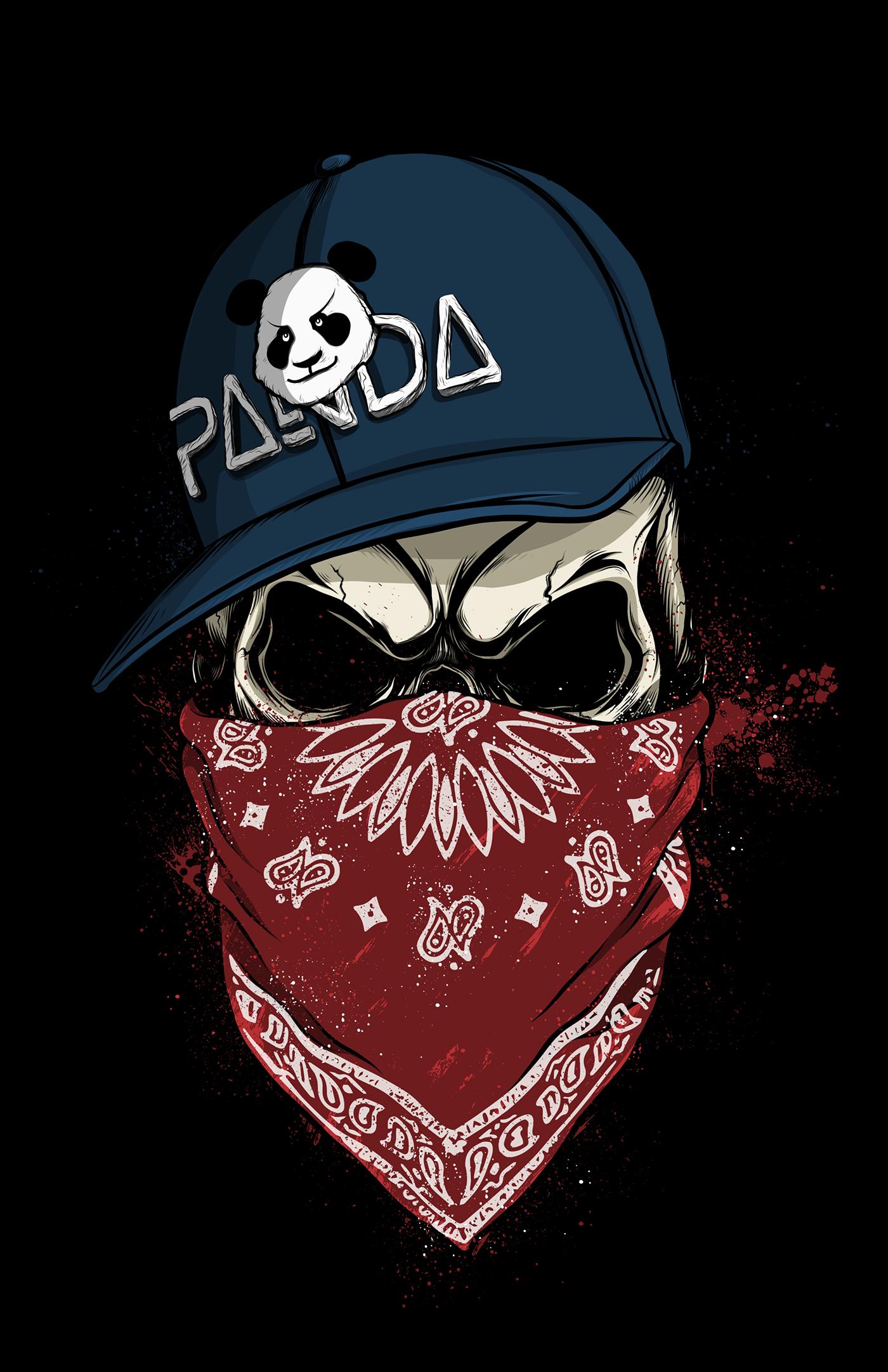 Badass Iphone Wallpaper Skull Panda On Behance