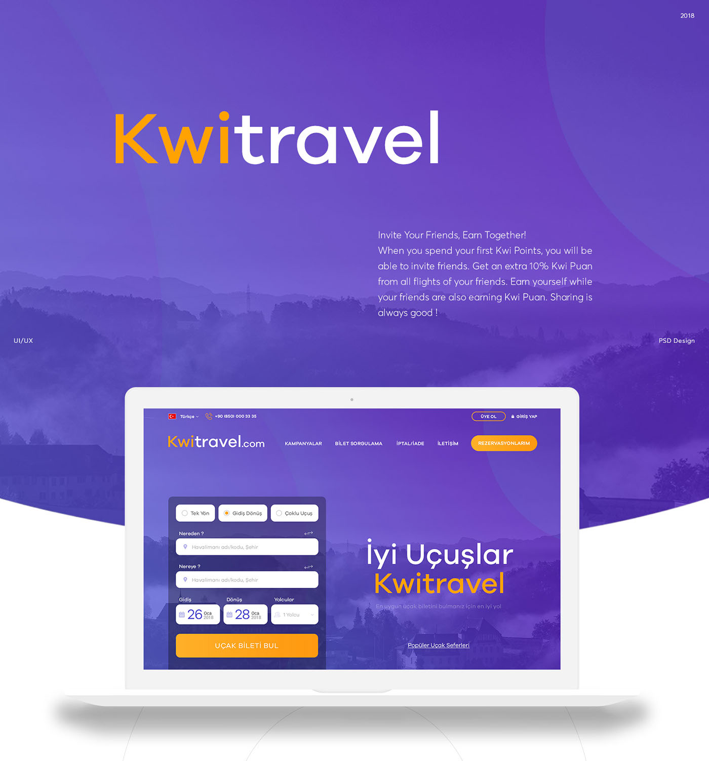 Booking Site Kwi Flight Booking Site Psd Web Design On Behance