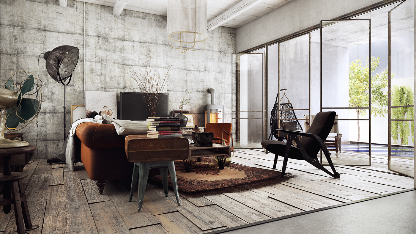 Industrial Vintage Vintage Industrial House On Behance