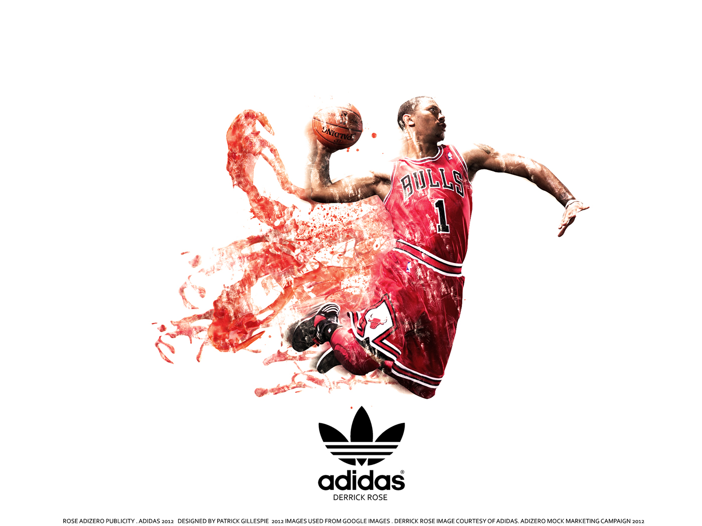 Michael Jordan Wallpaper Hd Derrick Rose Adizero Marketing On Behance