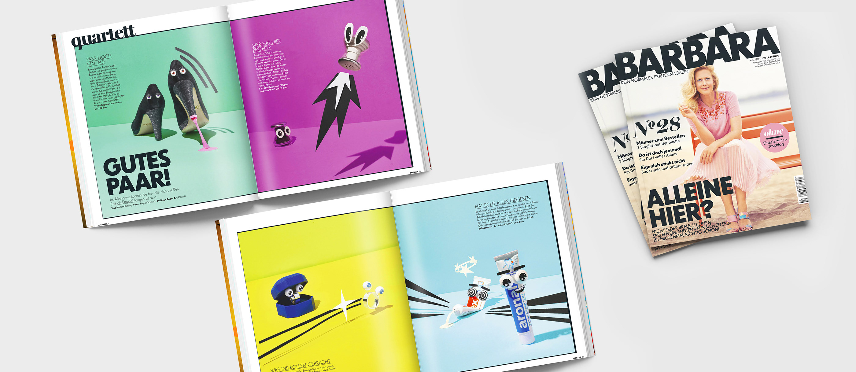 Barbara Magazine Illustrative Set Design On Behance