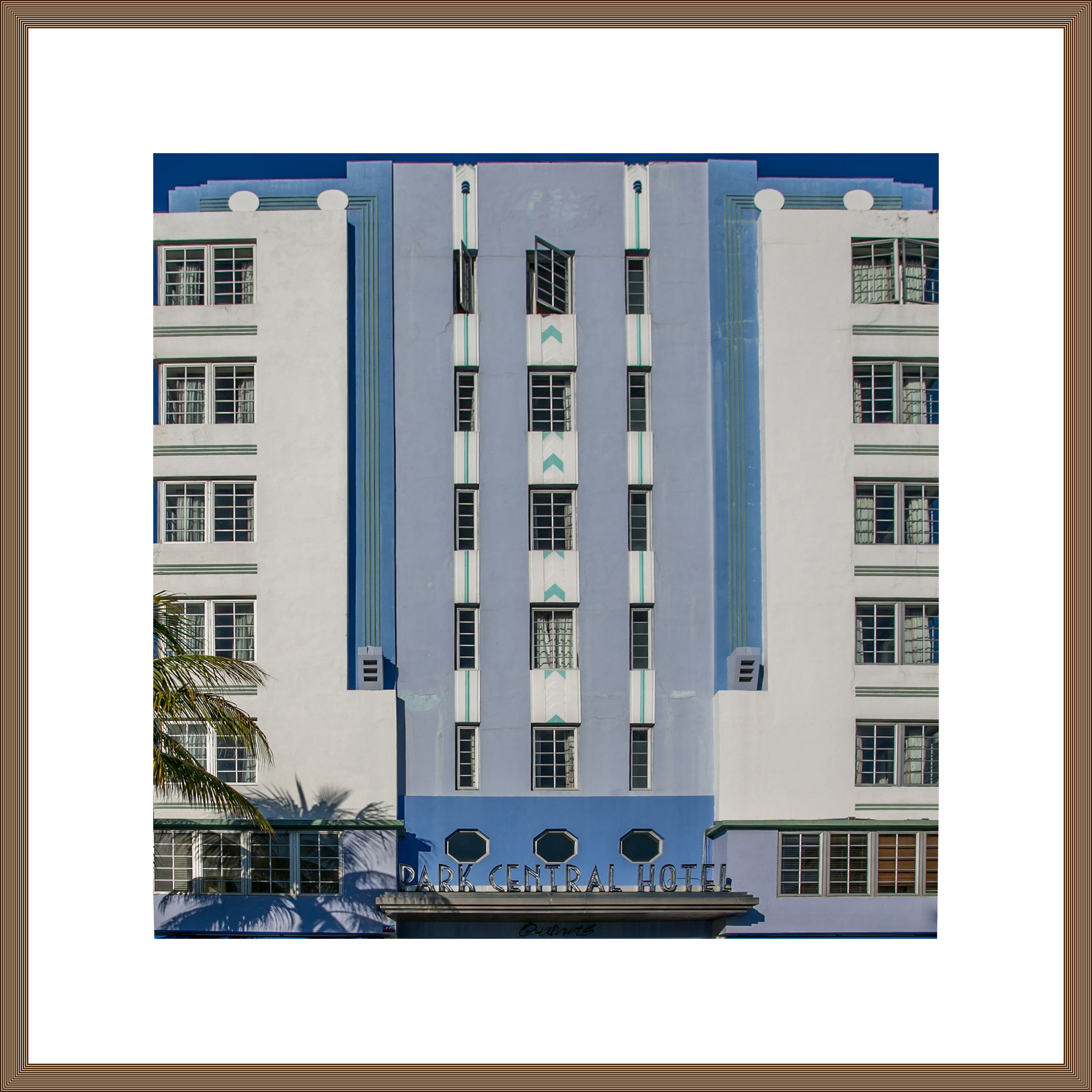 Tableau Moderne Vertical Art Deco Architecture Miami Beach On Behance
