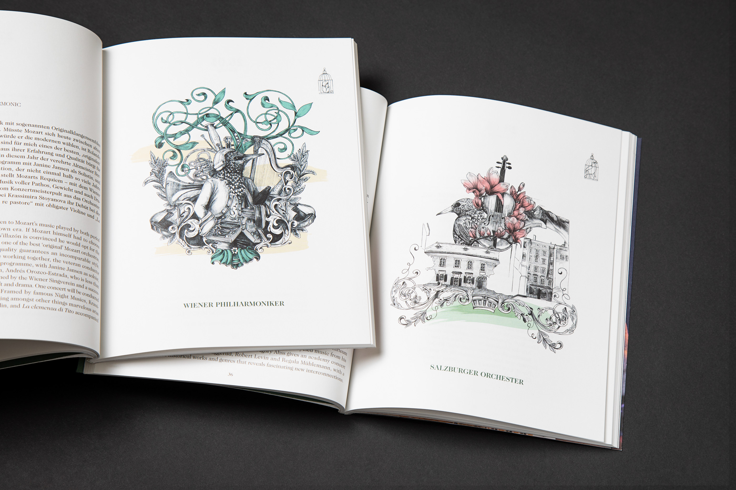 Illustrations For The Stiftung Mozarteum Salzburg On Behance