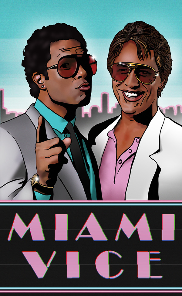 Free Fall Cat Wallpaper Miami Vice Poster On Behance