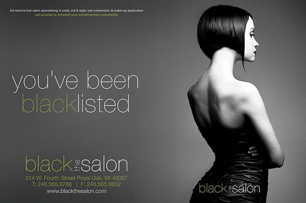 Black The Salon May/June 2010 Print Ad/Web Banner on Behance