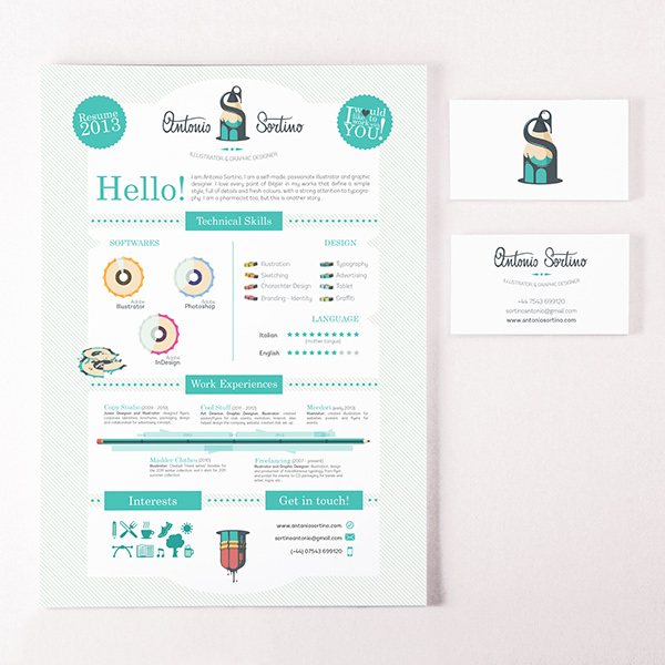 Antonio Sortino (Logo, Business Card and CV/Resume) on Behance - resume business cards
