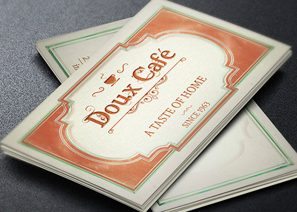 French Cafe Business Card Template on Behance