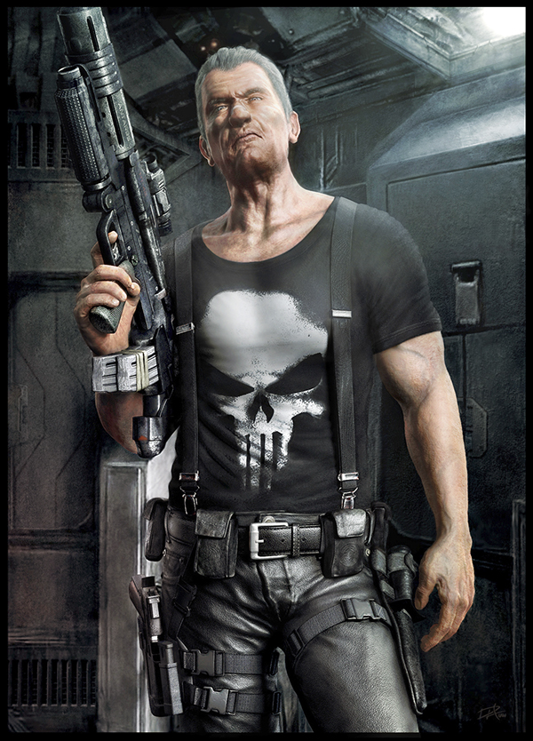 The Punisher Wallpaper Car The Punisher Old Frank On Behance