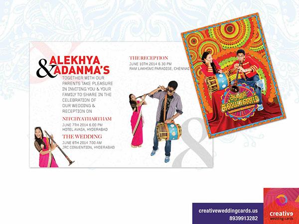 Ahaa Kalayanam Themed Wedding Cards on Behance